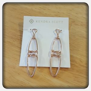 NWT Kendra Scott Rose Gold Fallyn Linear Earrings